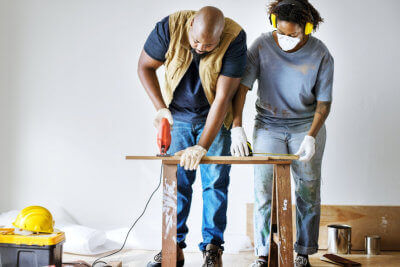 men at work indoor